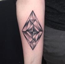 Geometric Diamond Tattoo